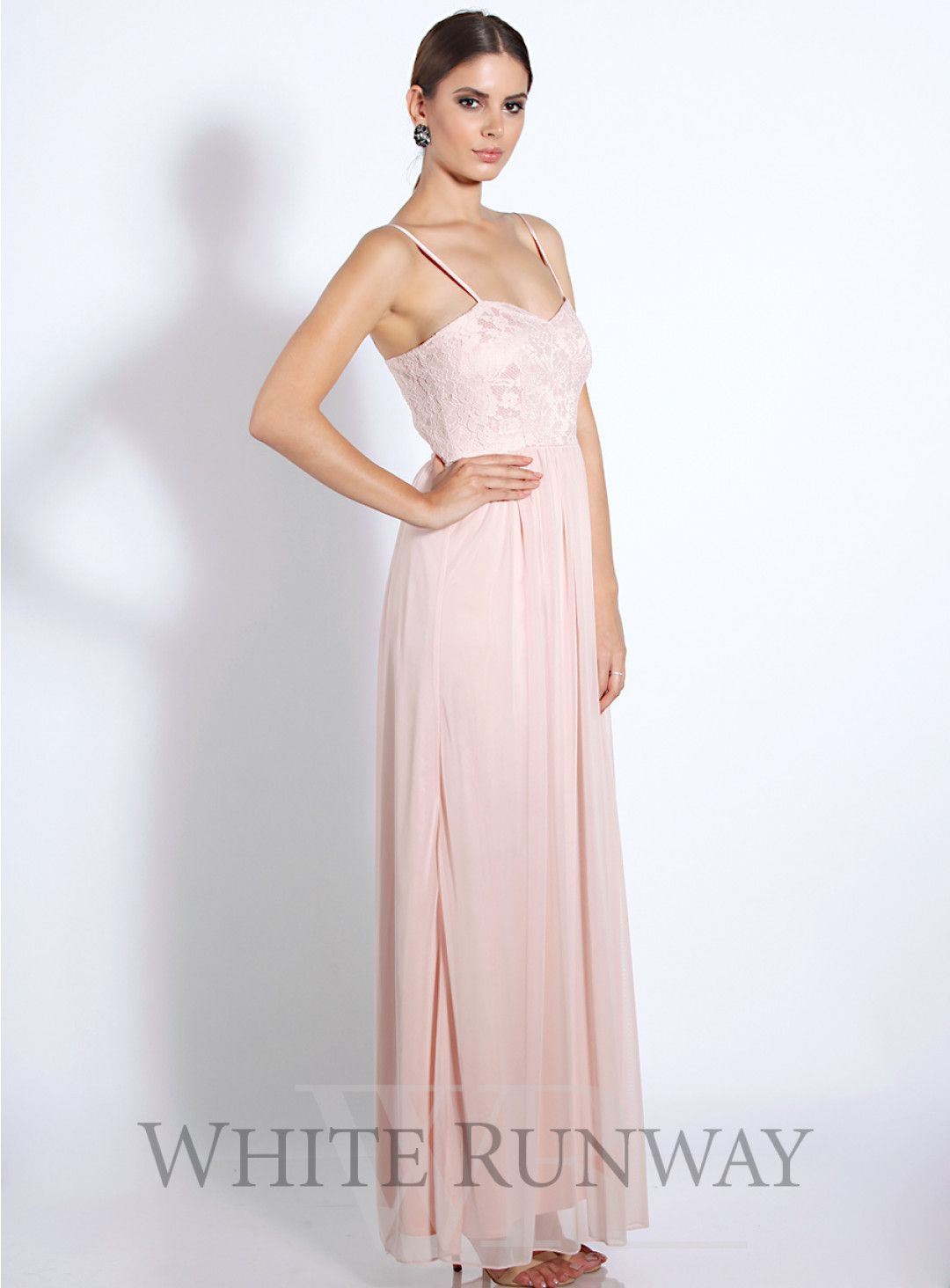 Blossom lace dress beautiful full length bridesmaid dress by