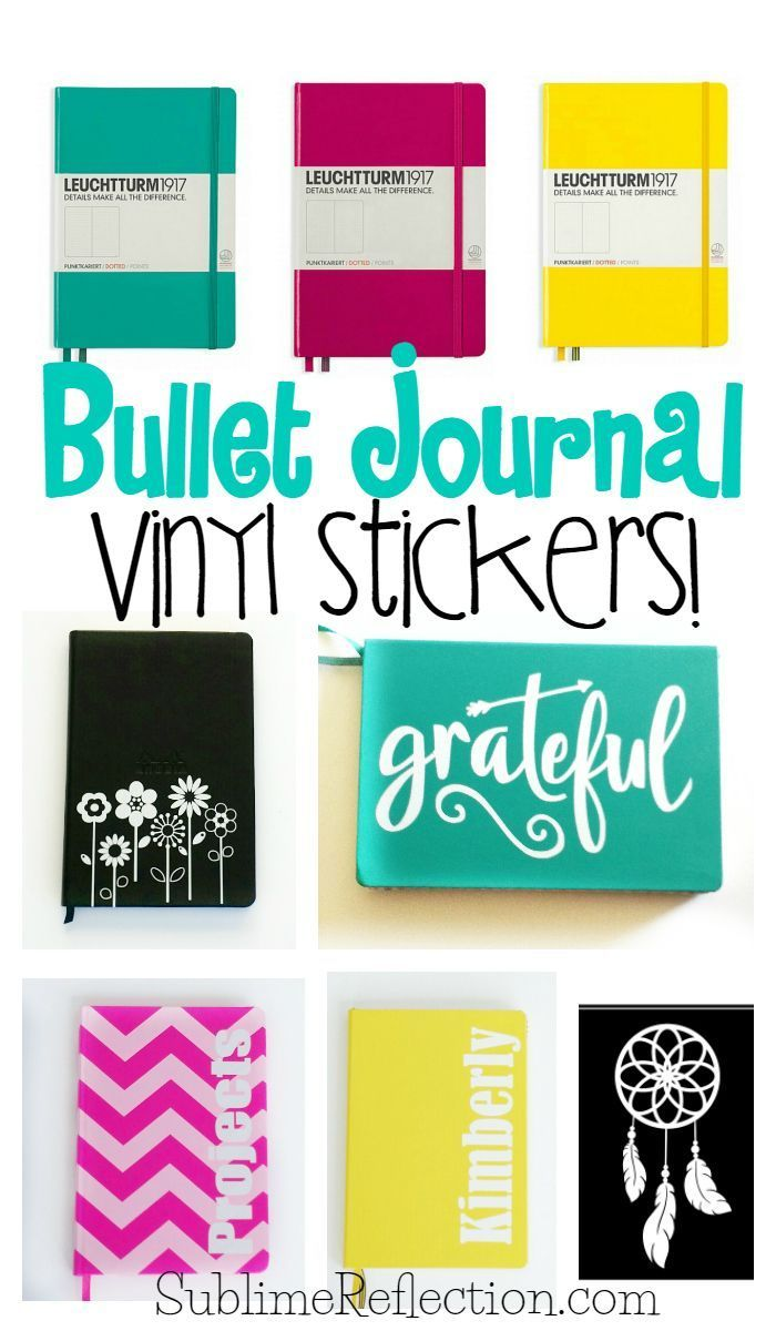 Custom vinyl stickers for the cover of your bullet journal