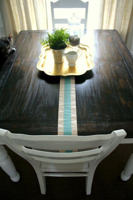 Burlap And Lace Refinishing The Dining Room Table Dining Room