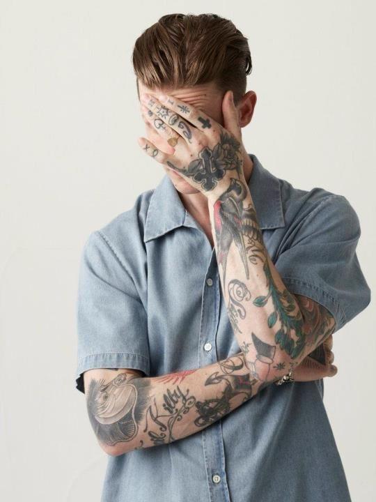 HENTSCH MAN SS13 Lookbook #tatts #tattoos