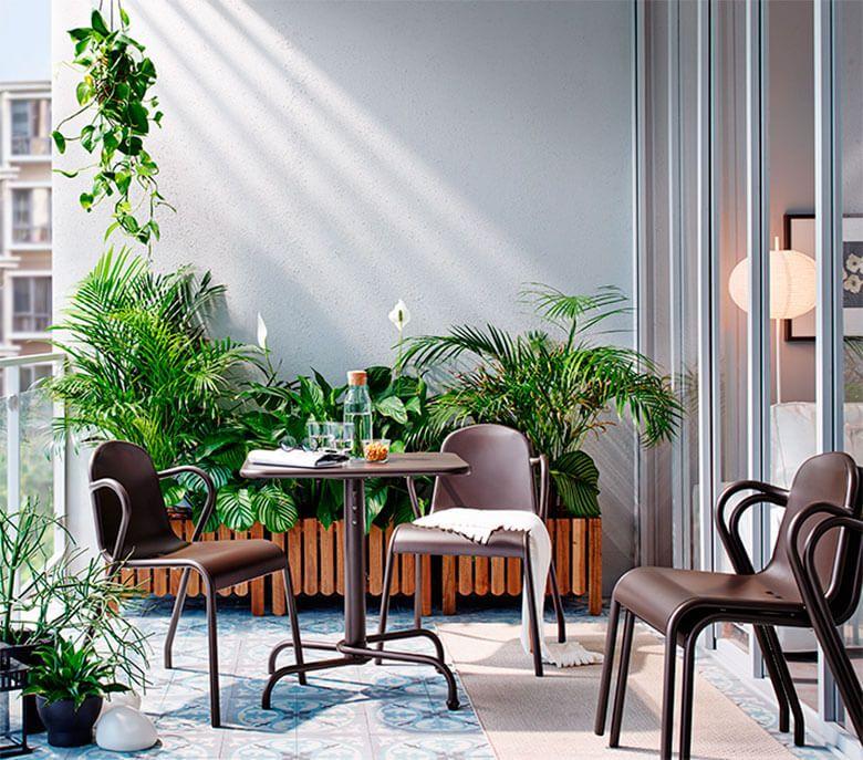 Decoracin Balcn IKEA Terrazas Jardines Balcones Outdoor
