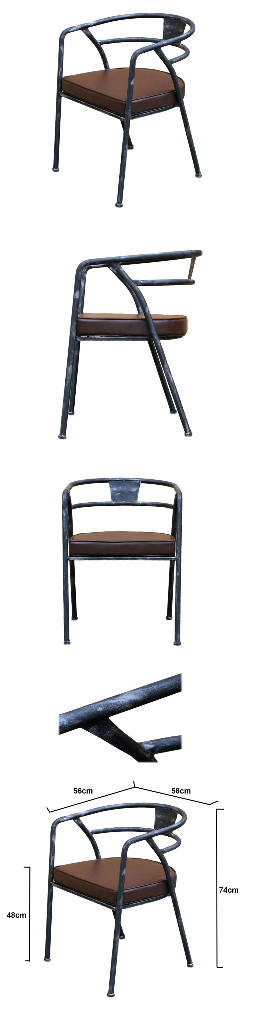 Simili Style Chaise Vintage Industrielétalamp; Ypo Cuir Retro Design 5LjR34A