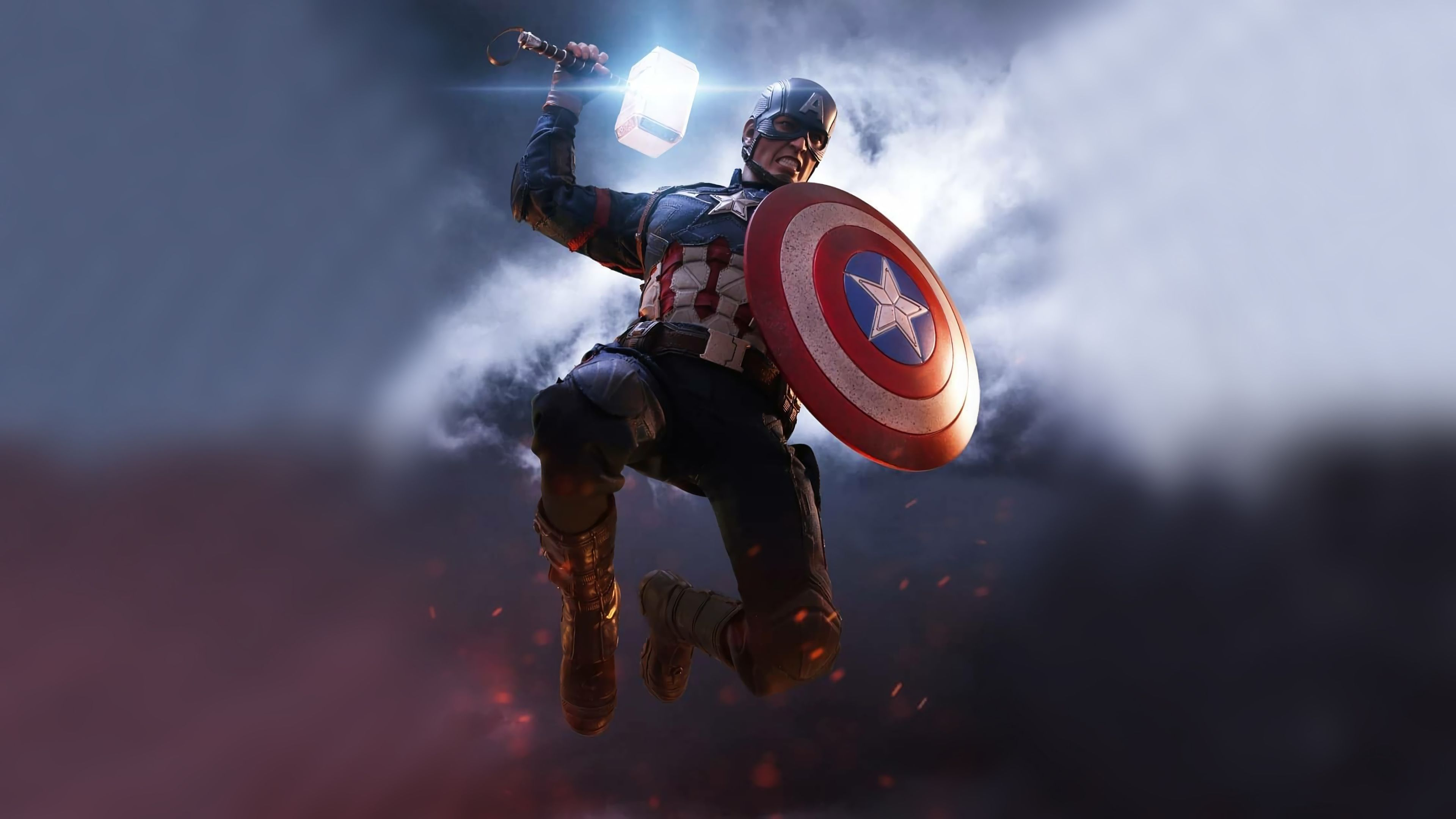 Captain America Mjolnir Artwork Superheroes Wallpapers Hd Wallpapers Captain America Wallpapers Artwork Wa In 2020 Captain America Wallpaper Captain America Captain