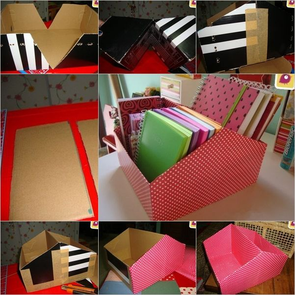 Diy File Organizer From Shoe Box Shoe Box Diy Shoe Box Crafts