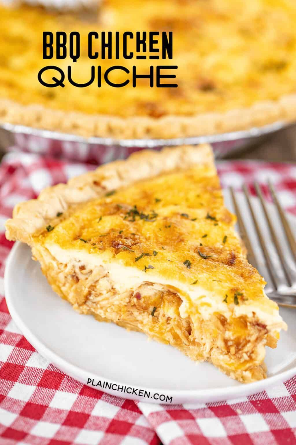 Bbq Chicken Quiche So Delicious Can Make Ahead And Refrigerate Or Freeze For Later Chicken Bacon Bbq Sauce Cheddar Che In 2020 Chicken Quiche Bbq Chicken Quiche