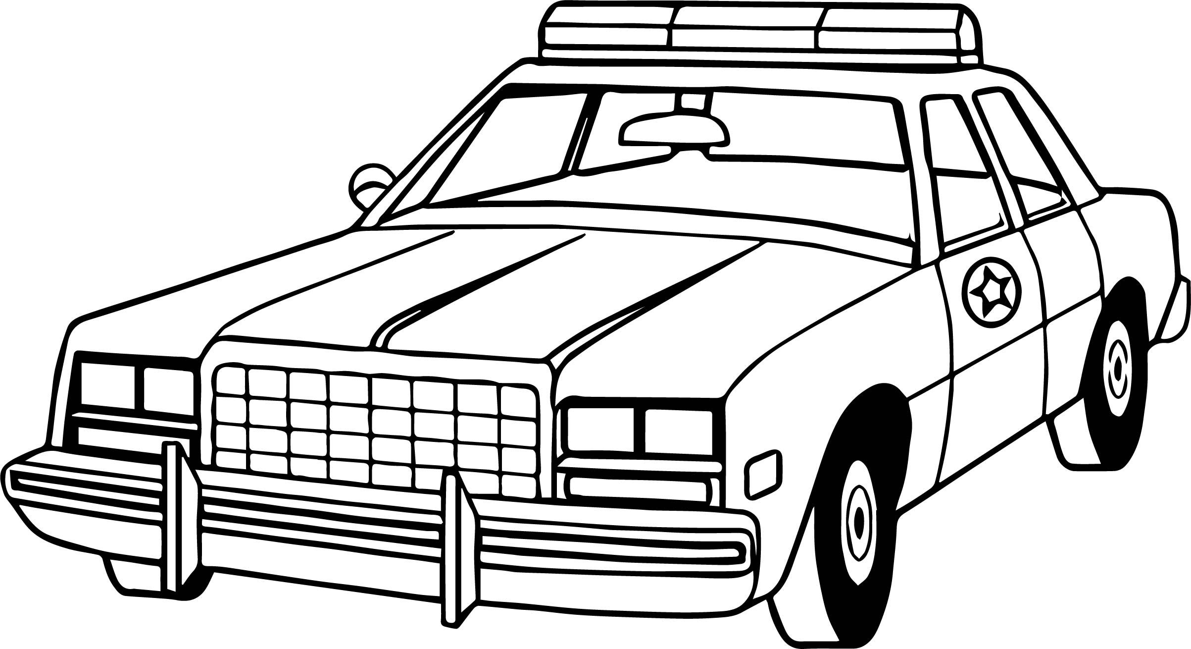 Nice New Police Car Coloring Page