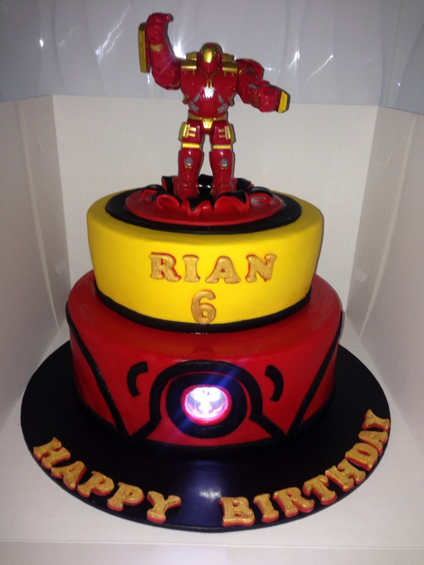Ironman Cake With Touch Light Iron Man Birthday