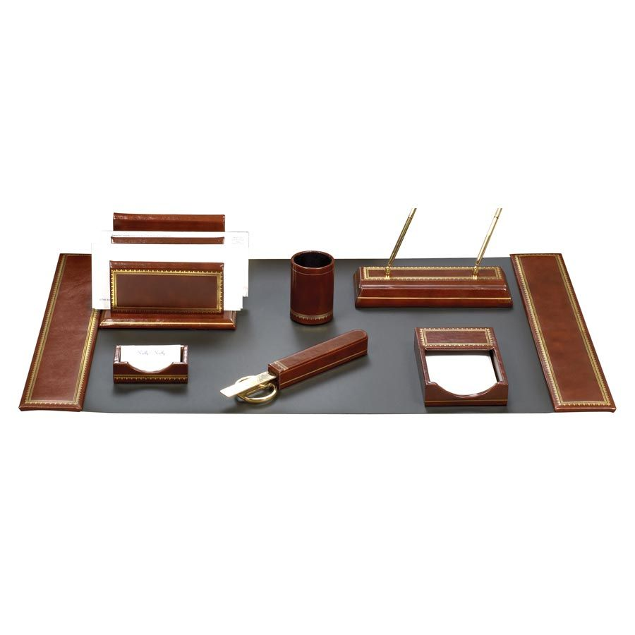 luxury office desk accessories. Leather Desk Pad | Florentine Pads (Assorted Colors) Sets Office . Luxury Accessories