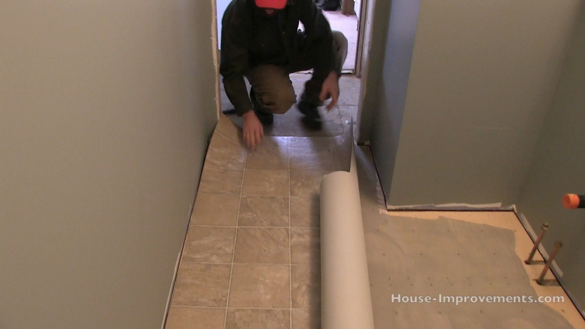 How Install Vinyl Flooring Use Cement Patching Compound Cover Nails Joints