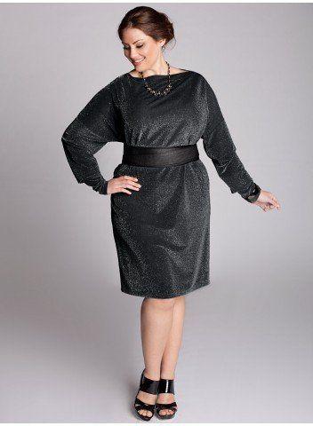 Kaori Infinity Dress in Black Lurex