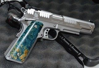 Limcat 45 ACP, 1911 custom built by Johnny Lim on a Caspian stainless steel single stack race ready recon receiver