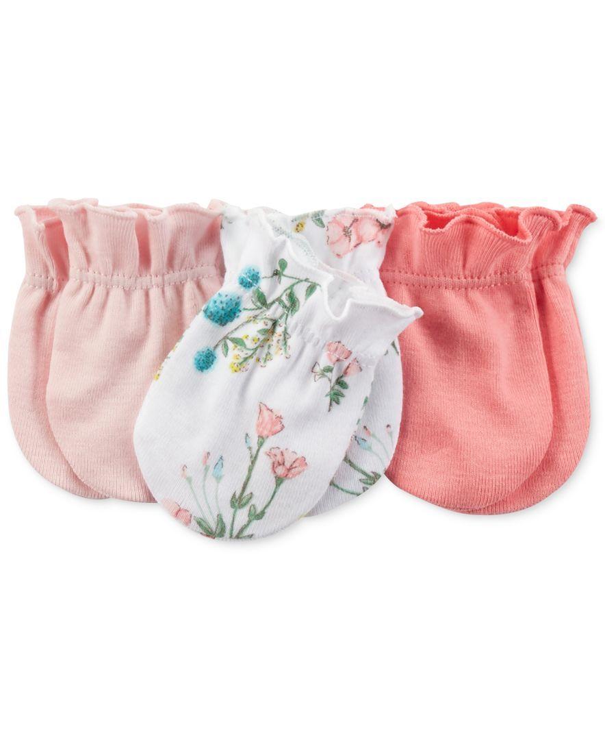 d88a9d97a Carter s Baby Girls  3-Pack Mitts - Kids Newborn Shop - Macy s ...