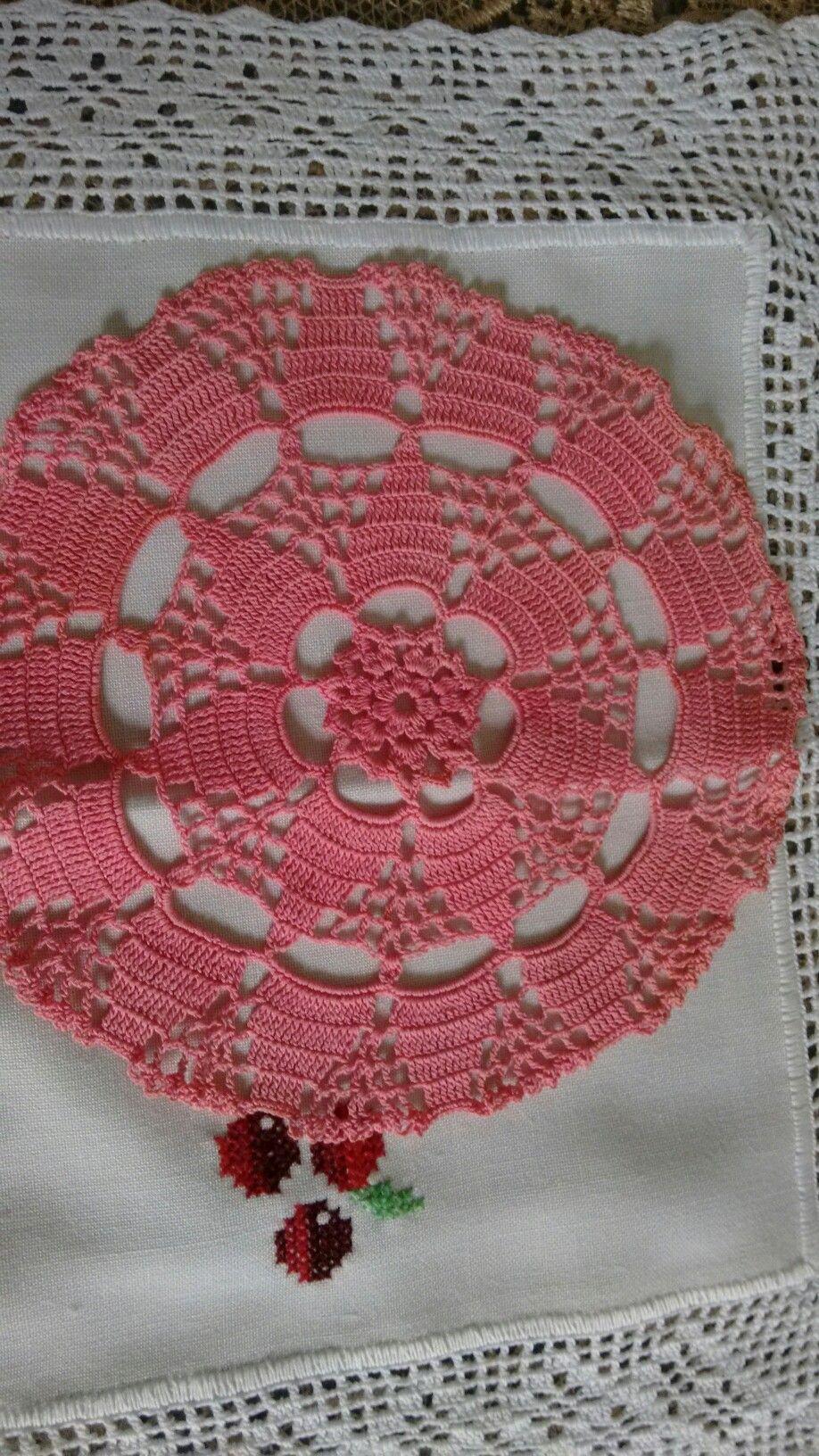 Pin von Lúcia Rabelo auf Sousplat em crochê | Pinterest