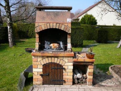 Briques dusine - barbecue maçonné avec foyer fonte - Vous avez