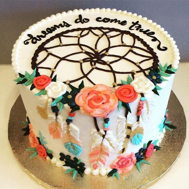 Dreamcatcher cake dreams do come true Boho Chic Wedding