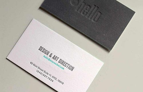 Letterpress business cards design 7 inspiration pinterest business cards examples colourmoves Image collections