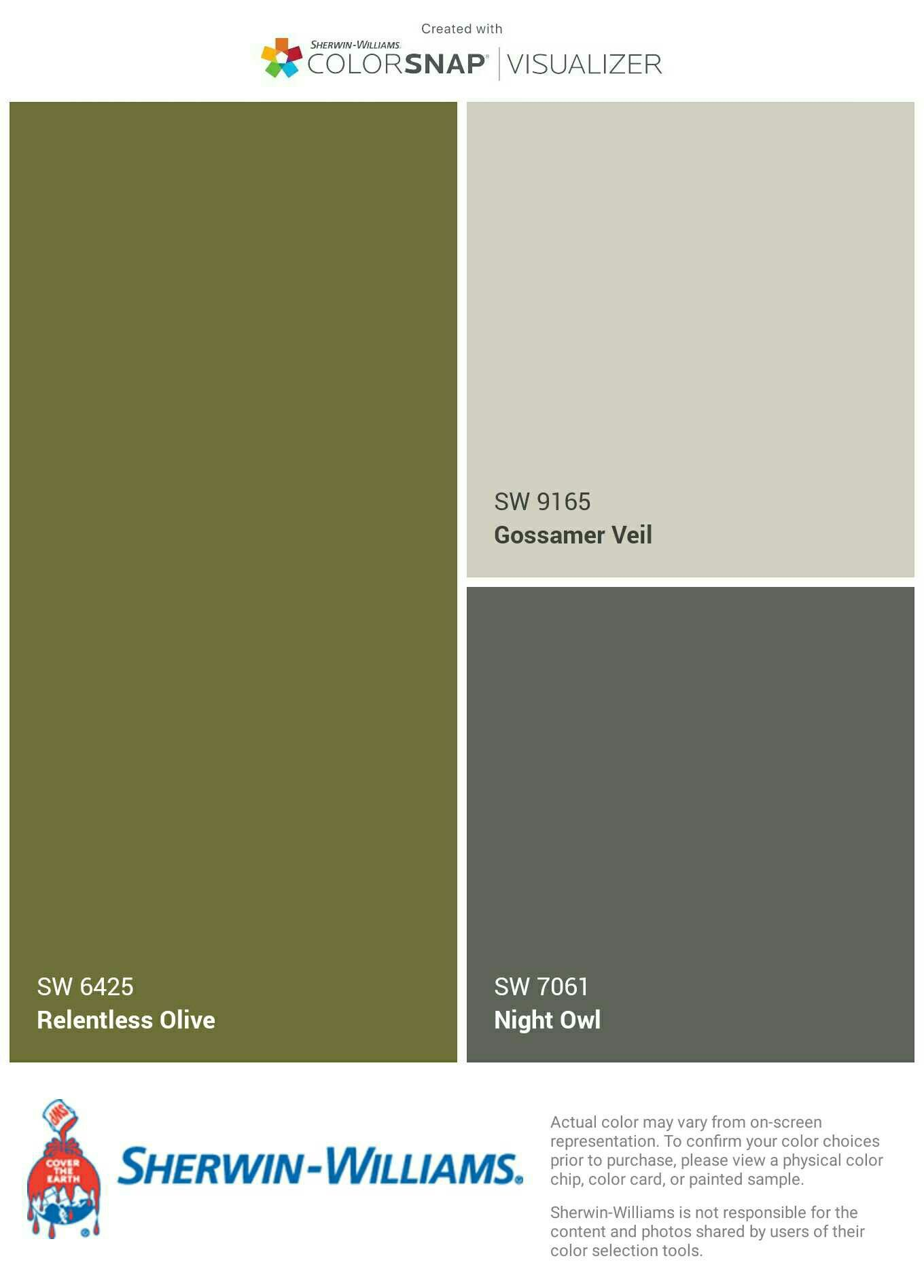 Sherwin Williams Color Palette I Just Created This Color Palette With The Sherwin Williams