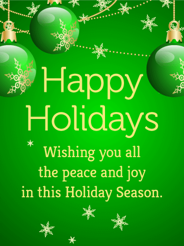 Green bauble seasons greetings card peace in abundance joy green bauble seasons greetings card peace in abundance joy overflowing this vibrant holiday card is bursting with fresh hope and honest goodwill m4hsunfo