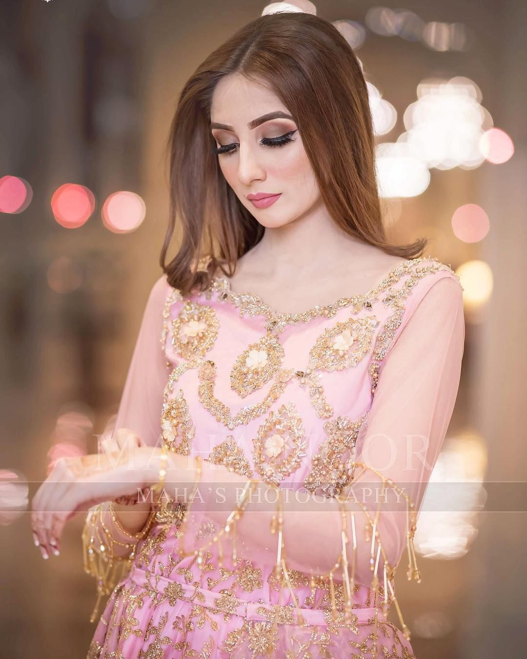 In Pakistan and India Brides wear pink or peaches bridals