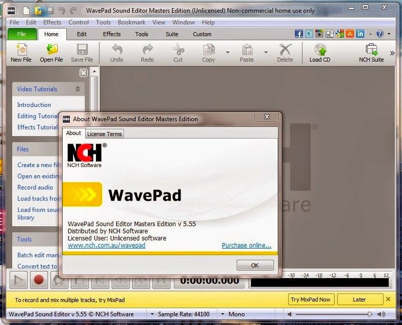 wavepad sound editor 5.33 serial key