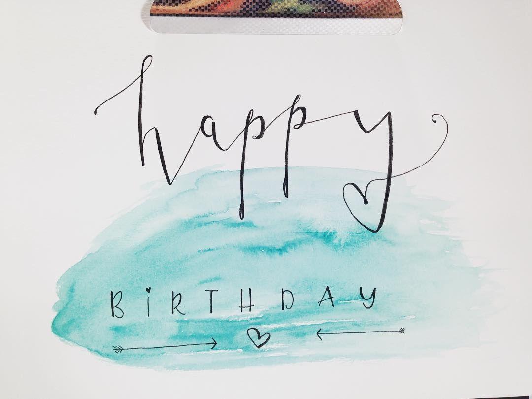 Handlettering Anleitung Geburtstagskarte Happy Birthday