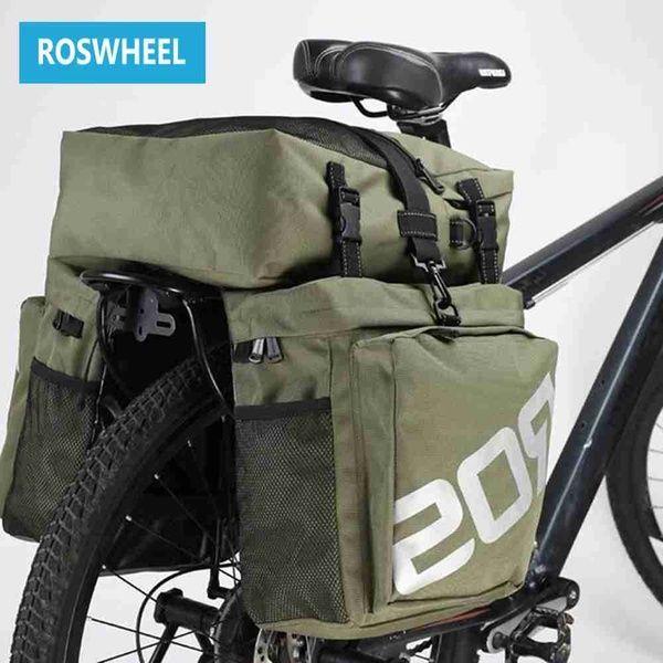 Bike Bags Roswheel 37l Mtb Mountain Bike Rack Bag 3 In 1