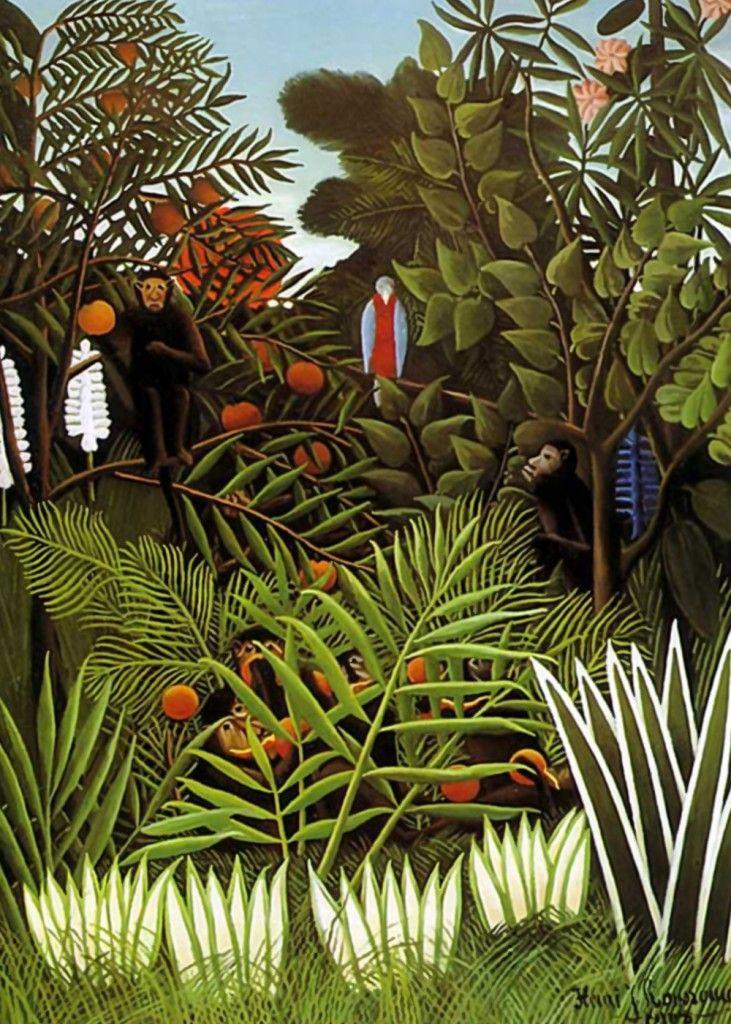 Henri Rousseau Jungle Landscape Rousseau Was A French Post Impressionist Painter In The Naive Or Primitive Manner He Wa Naive Art Jungle Art Henri Rousseau