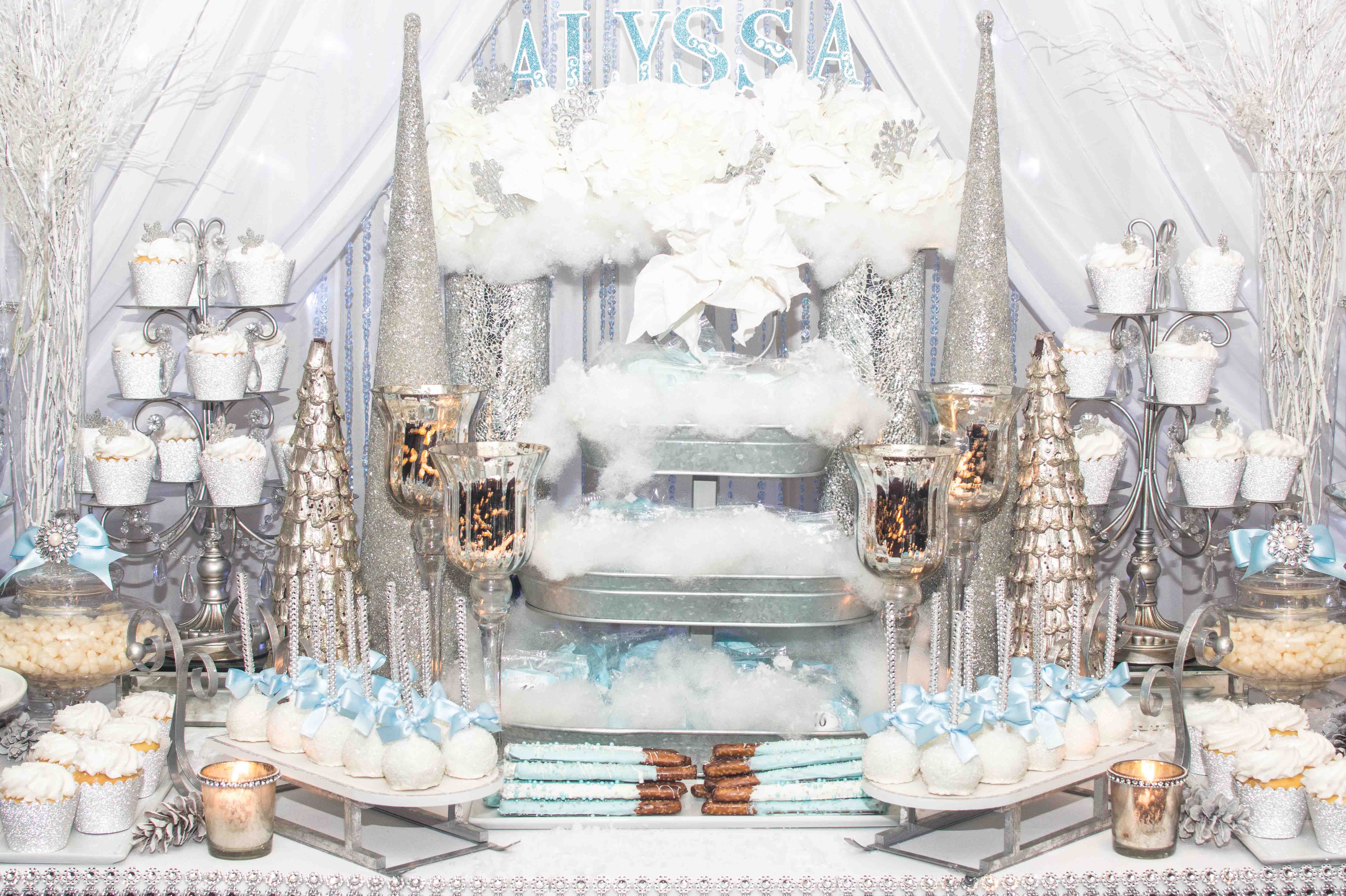 Pin By Sweet Dreams By Dana On Winter Wonderland Theme Sweet 16 Birthday Party 16th Birthday Party Sweet 16 Birthday