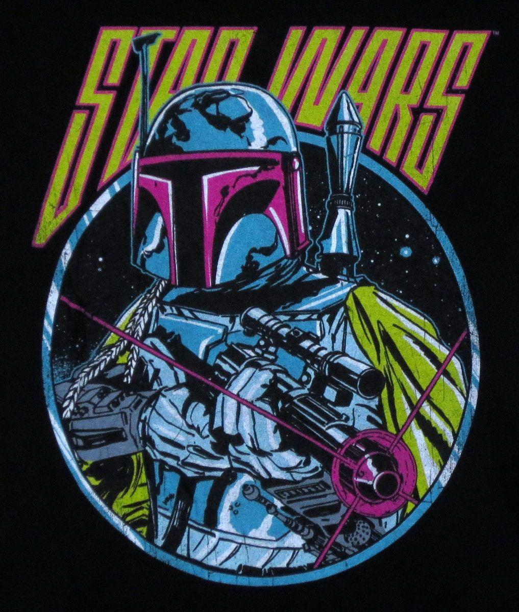 Star Wars T-Shirt - Retro 80s Boba Fett - NerdKungFu