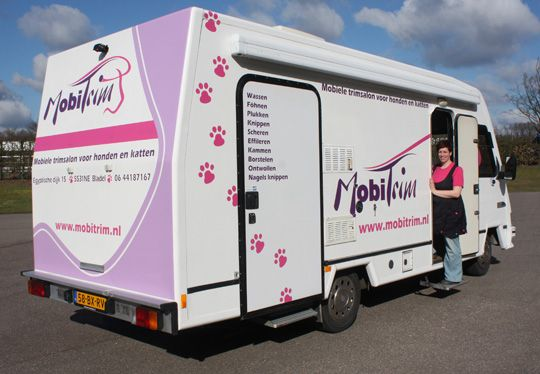 The Mobile Dog Grooming Salon Dog Grooming Salons Dog Grooming Dog Grooming Business