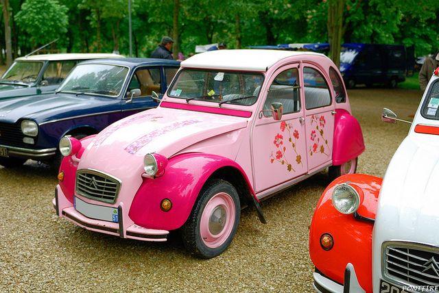 Citroen 2cv Rose By Pontfire Via Flickr Citroen 3cv Autos Cosas Lindas