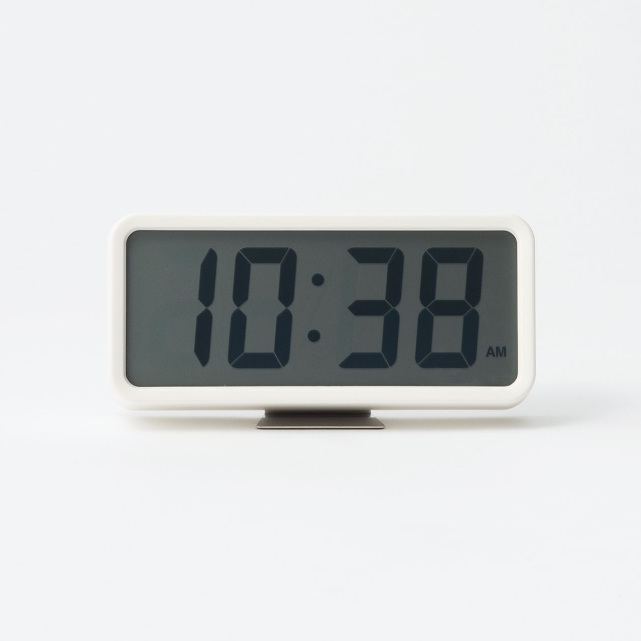 Digital Clock M With Alarm Oc274w White Muji Alarm Clock