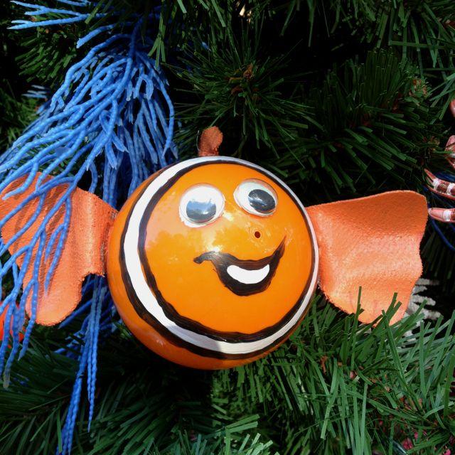 Nemo Christmas ornaments. - Nemo Christmas Ornaments. Crafts Christmas, Christmas Ornaments
