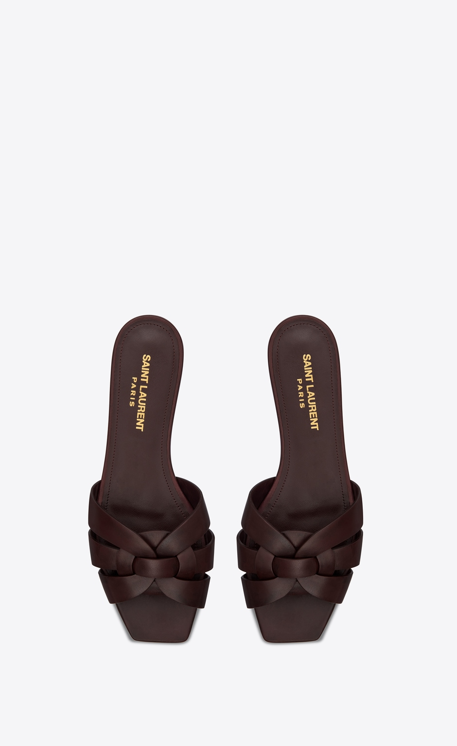 Tribute Flat Sandals In Smooth Leather In 2020 Saint