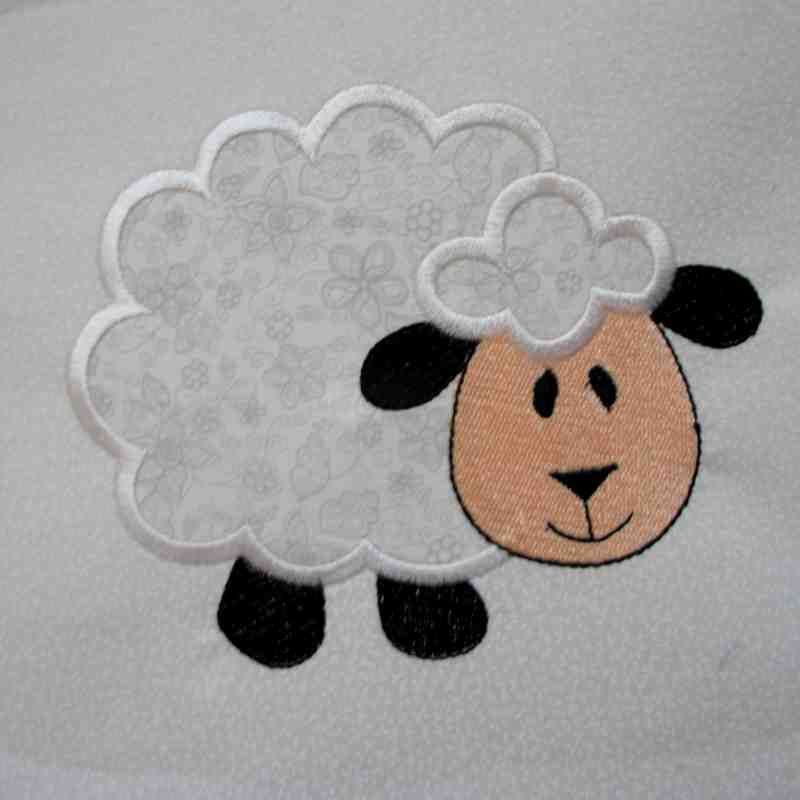 Sheep farm quilt block embroidered applique blocks