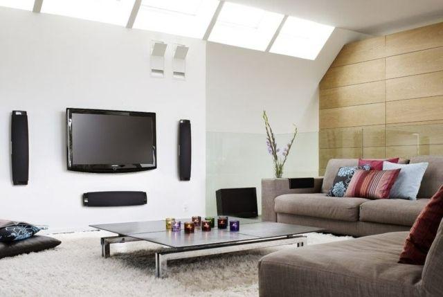 modern living room design with chocolate brown mustard sofa - einrichtungsideen fur kleine wohnzimmer