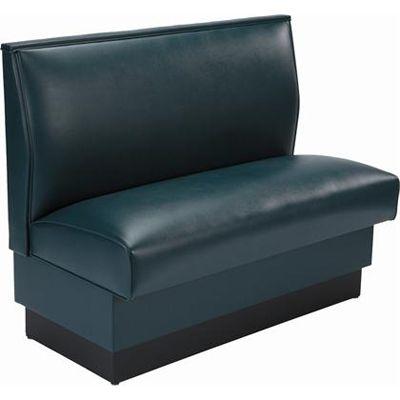 Plain Back Single Upholstered Restaurant Booth Floor