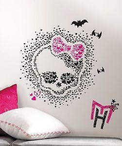 RoomMates RMK2258SLM Monster High Heart Skullette Wall Decals Stickers Decor