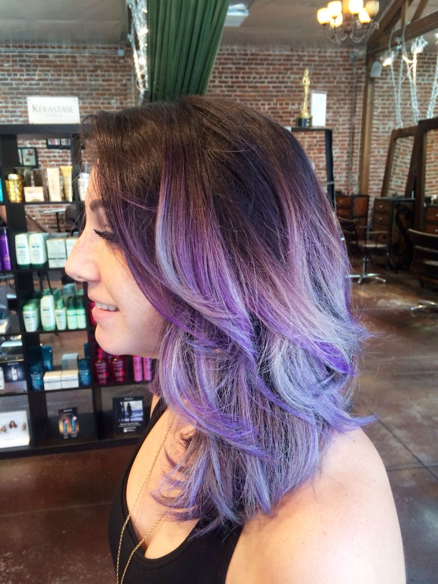 Loving this brown purple silver ombrè! in 2019
