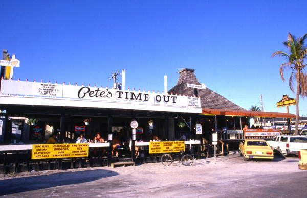 Pete S Time Out Restaurant On Estero Boulevard In Fort Myers