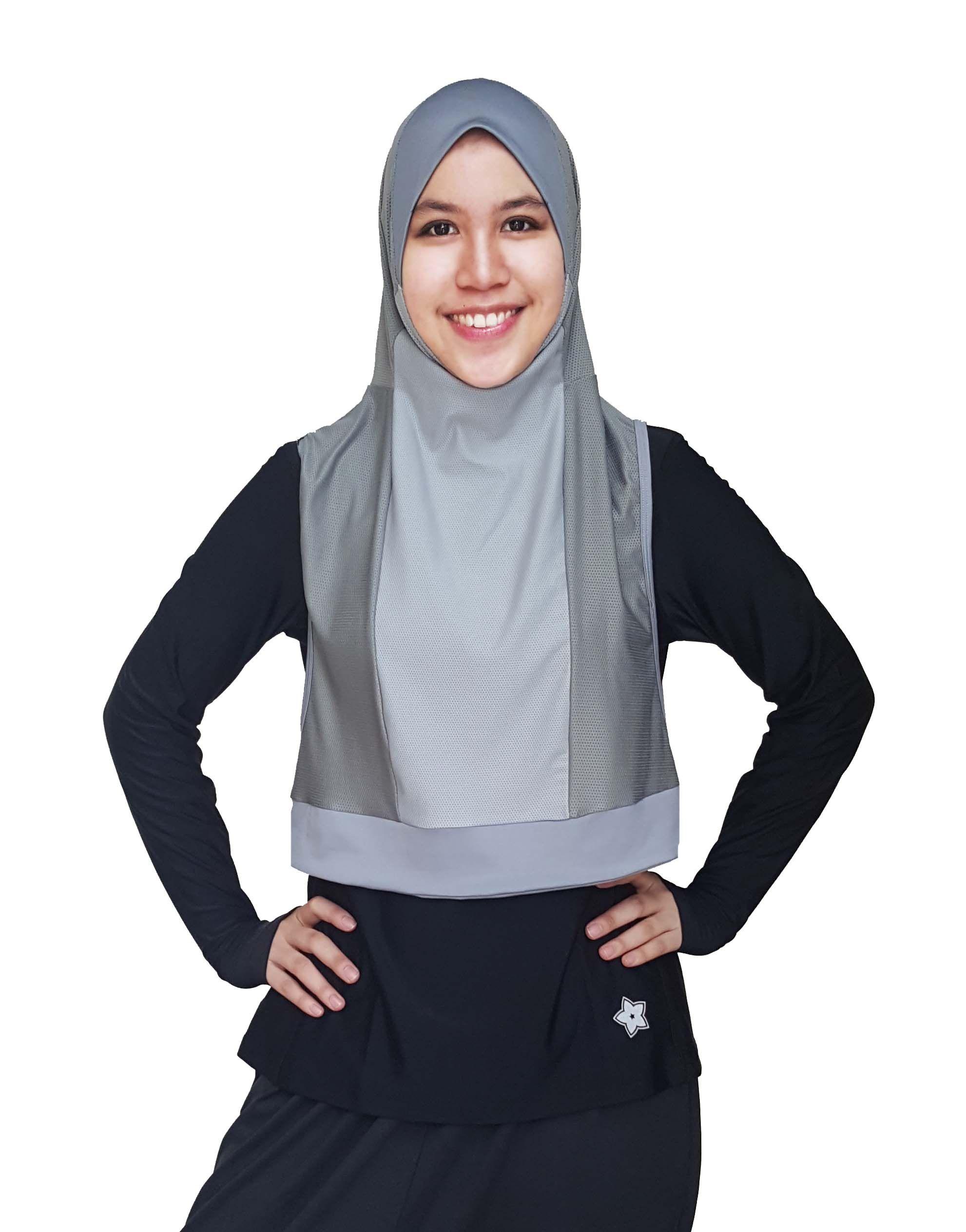 Metallic Silver Fashion Hijab Fashion Sports Hijab