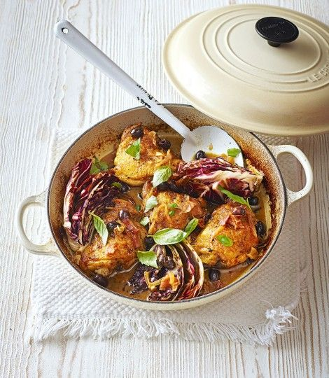 Italian Chicken with Olives and Radicchio