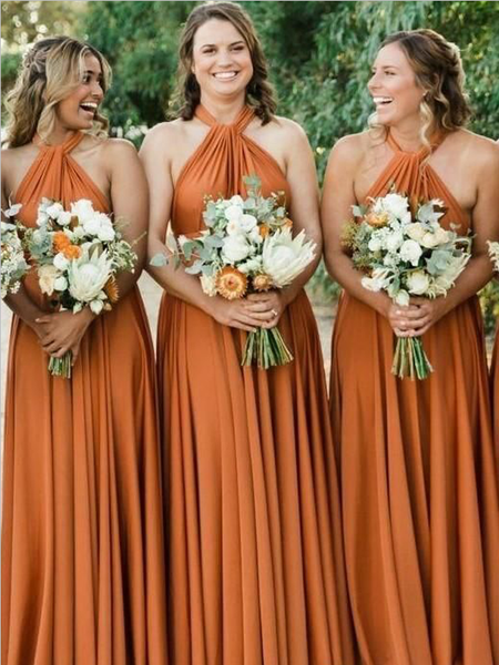 d12f53c765d6 Simple Halter A Line Backless Floor Length Chiffon Long Bridesmaid Dresses,  SW1025 #bridesmaiddresses #