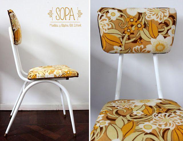 Silla dise o a os 39 60 39 70 restaurado por sopa muebles y - Sillas anos 60 ...