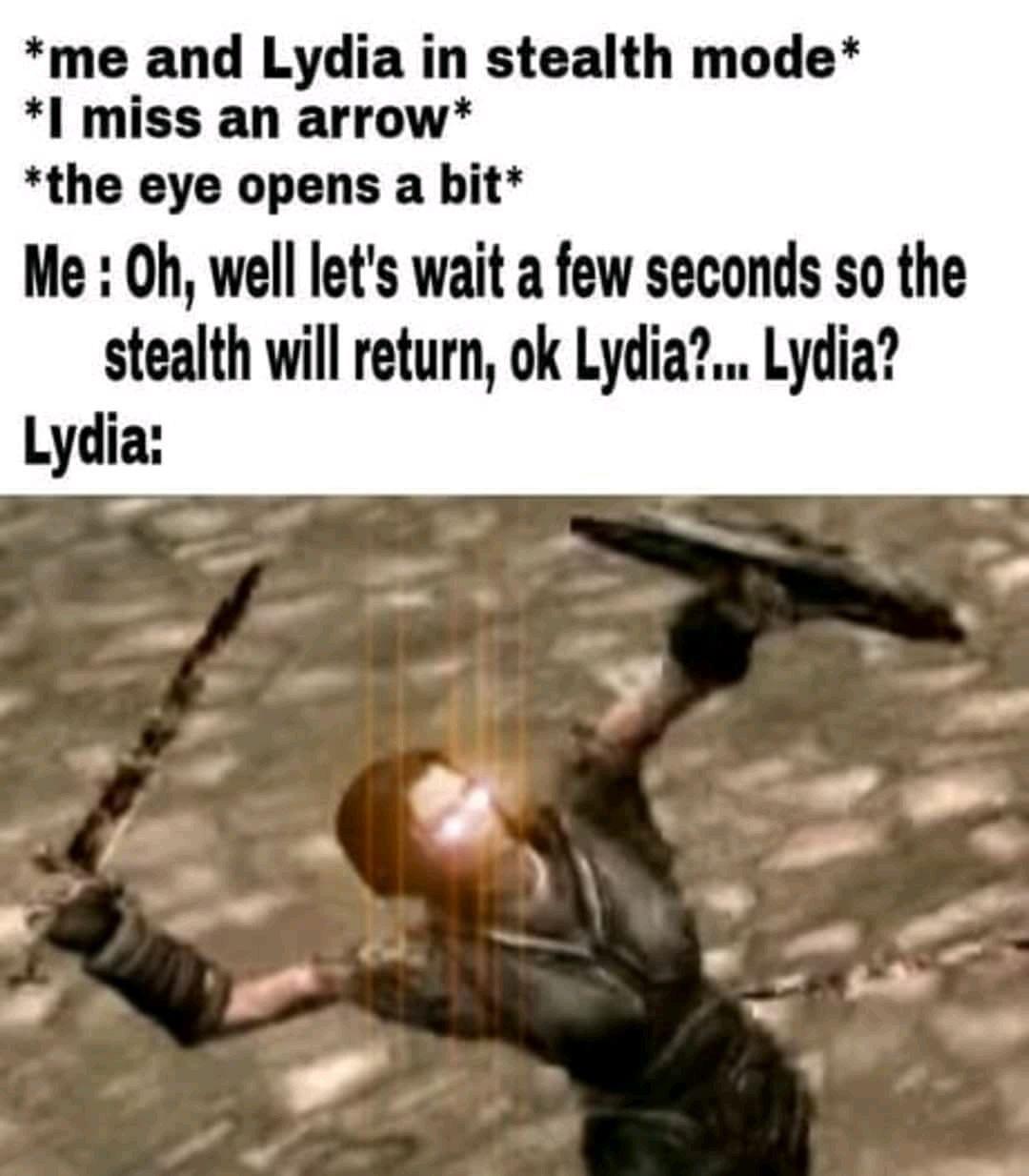 Basically Lydia on every adventure. | Skyrim memes, Skyrim ...