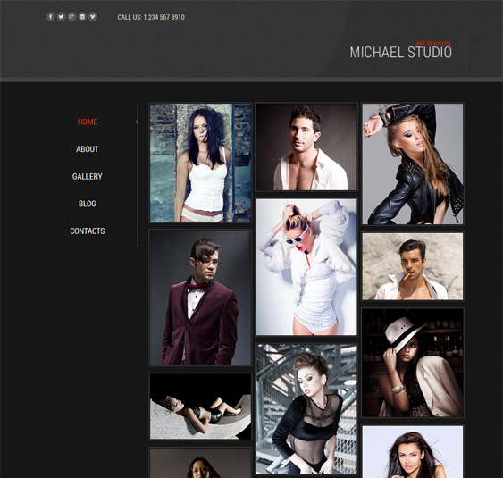 This free Bootstrap Joomla template has a dark design, a responsive ...