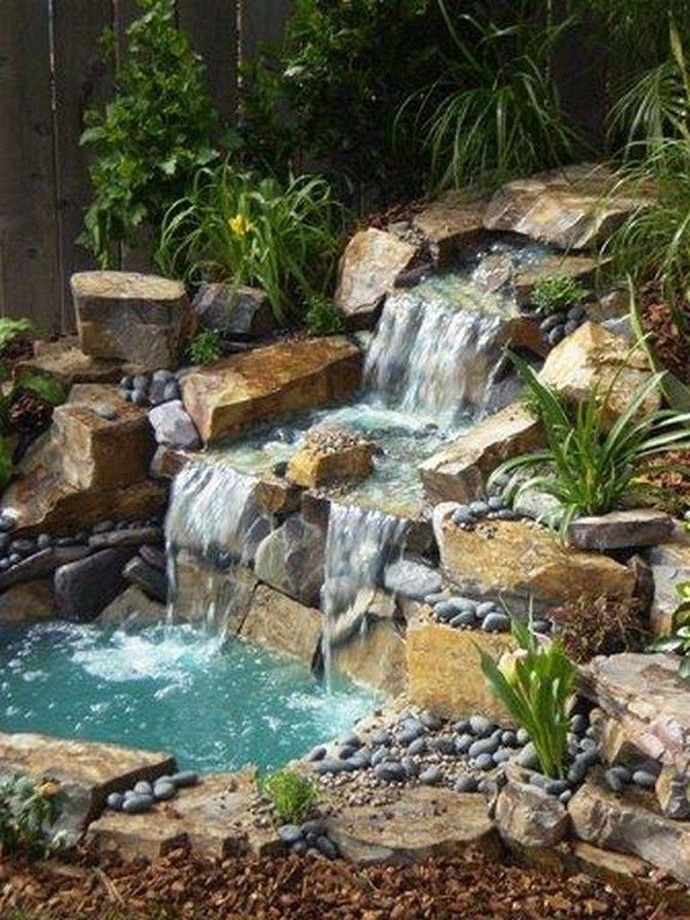 26 Marvelous Fish Pool Garden Design Ideas For Small Yard Gardendesign Gardeningtips Gardening Waterfalls Backyard Ponds Backyard Pond Waterfall