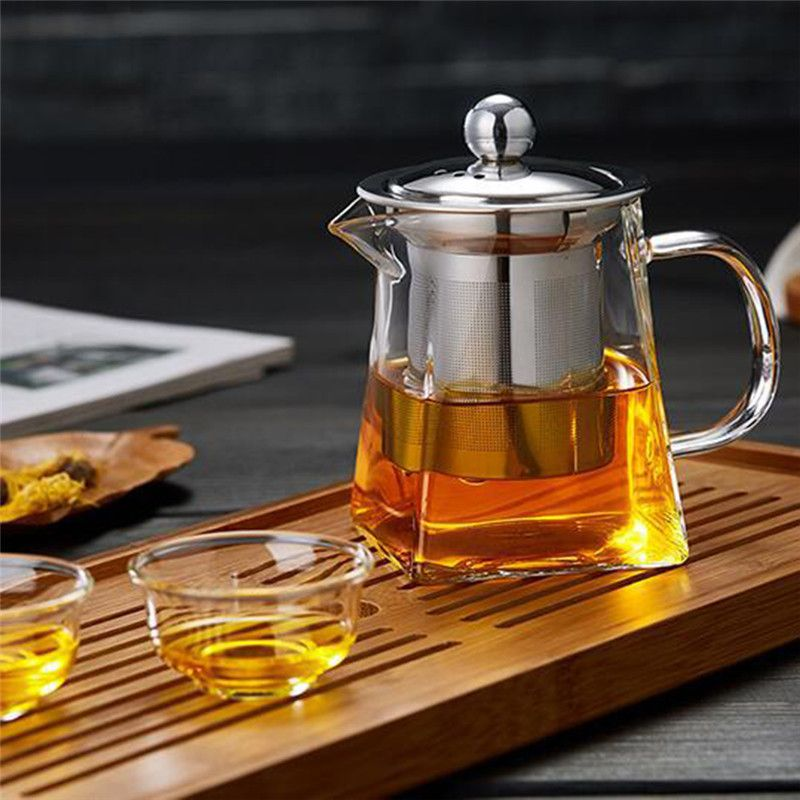 Photo of Clear Borosilicate Glass Teapot – Teapot with Infuser