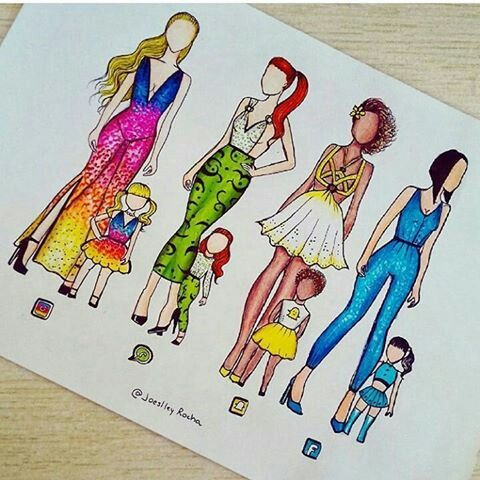 Snap Insta En Mère Et Fille Dessin Kawaii Dessin De Mode