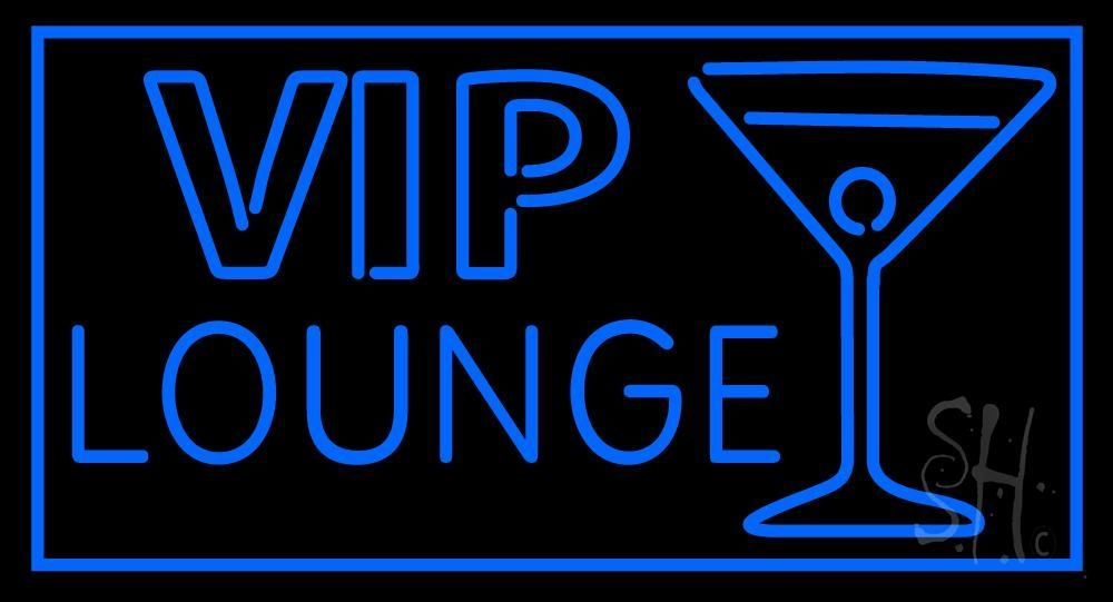 Vip Lounge With Martini Glass Neon Sign 20 Tall X 37 Wide X 3 Deep Is 100 Handcrafted With Real Glass Tube Neon Sign Made In Usa Colors On The